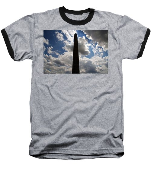 Baseball T-Shirt featuring the photograph Silhouette Of The Washington Monument by Cora Wandel