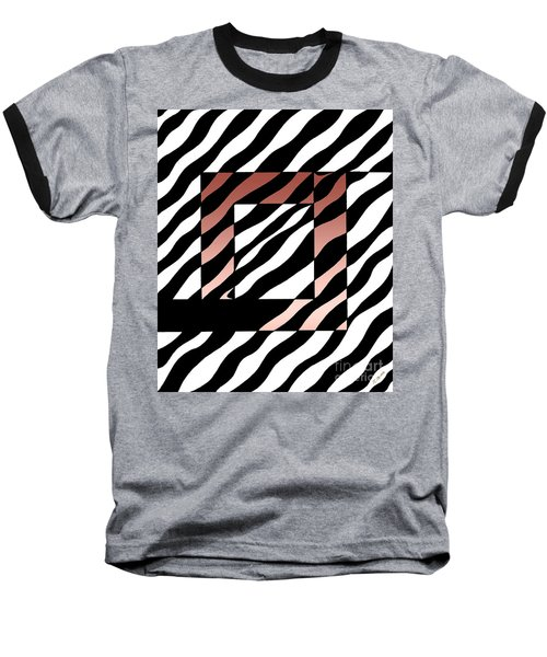 Baseball T-Shirt featuring the drawing 3 Squares With Ripples by Joseph J Stevens