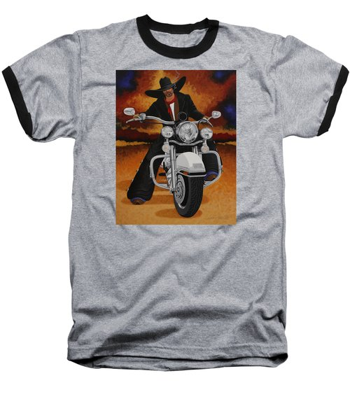 Steel Pony Baseball T-Shirt by Lance Headlee