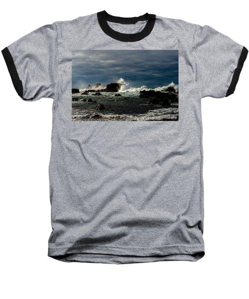Stormy Seas And Skies  Baseball T-Shirt