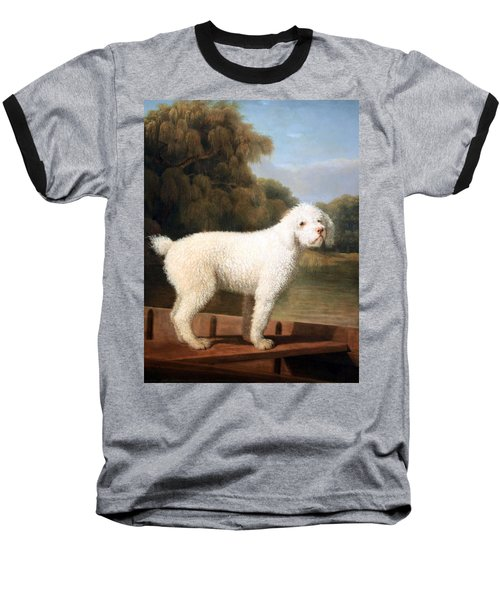 Stubbs' White Poodle In A Punt Baseball T-Shirt by Cora Wandel