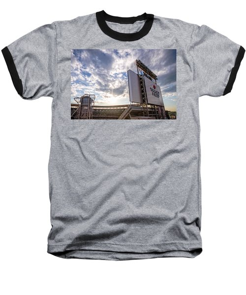 Target Field Sunset Baseball T-Shirt