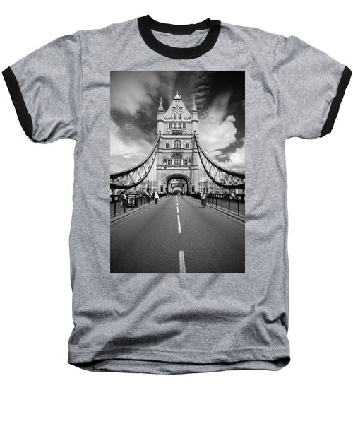 Baseball T-Shirt featuring the photograph Tower Bridge In London by Chevy Fleet