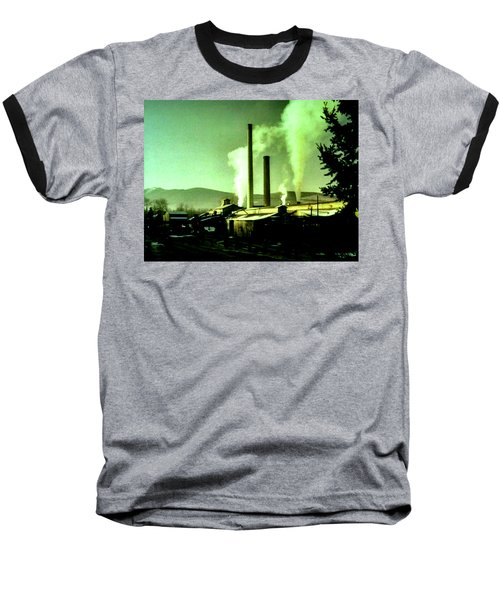 Baseball T-Shirt featuring the painting Twin Peaks by Luis Ludzska