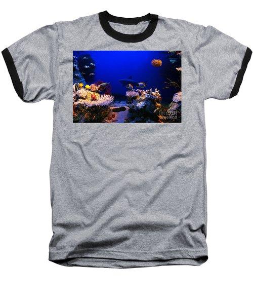 Underwater Scene Baseball T-Shirt