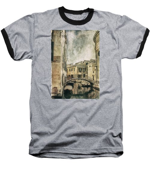 Venice Back In Time Baseball T-Shirt by Julie Palencia