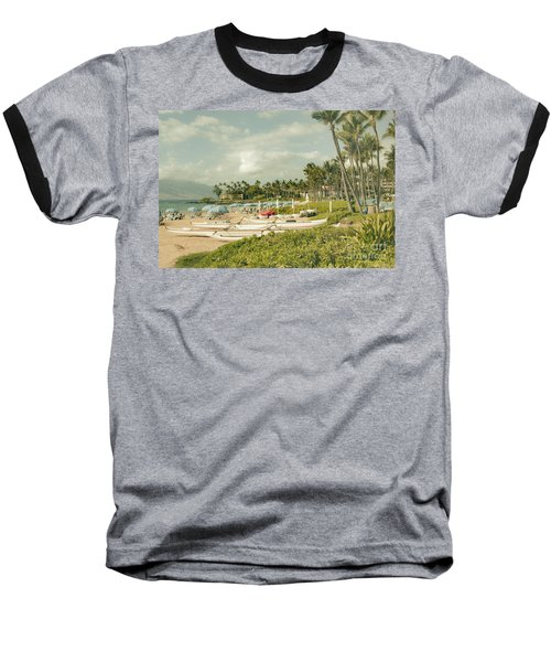 Wailea Beach Maui Hawaii Baseball T-Shirt by Sharon Mau
