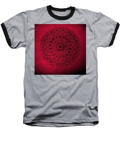 Baseball T-Shirt featuring the drawing Wave Particle Duality by Jason Padgett