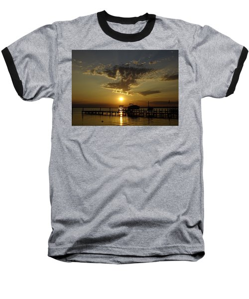 An Outer Banks Of North Carolina Sunset Baseball T-Shirt