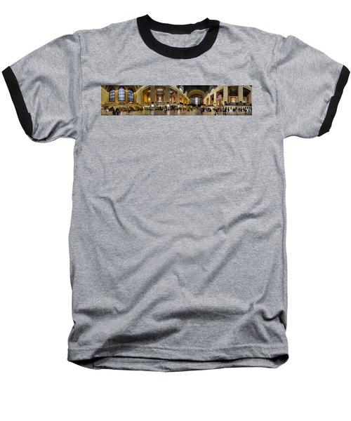 360 Panorama Of Grand Central Terminal Baseball T-Shirt by David Smith