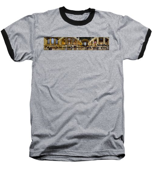 360 Panorama Of Grand Central Terminal Baseball T-Shirt