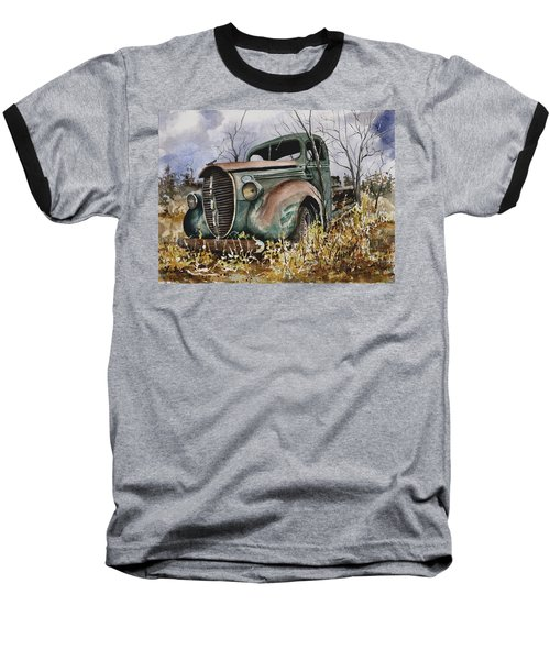 39 Ford Truck Baseball T-Shirt by Sam Sidders