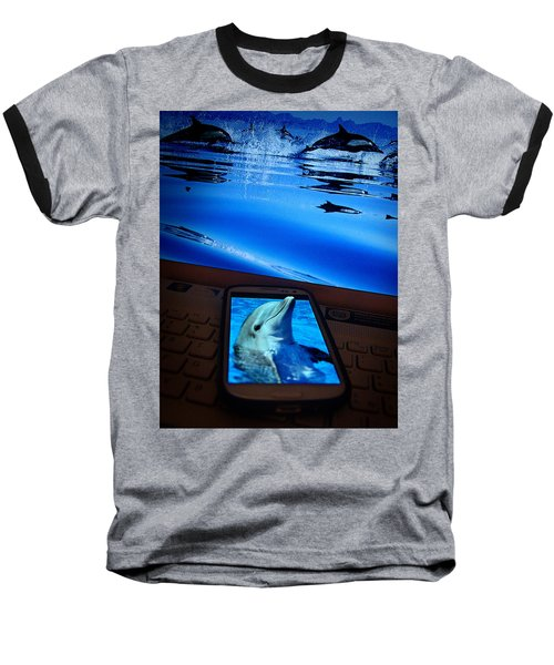3d Phone... Baseball T-Shirt