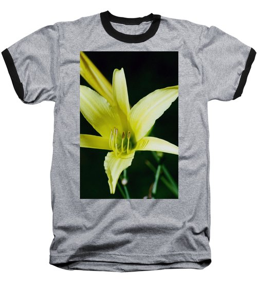 Baseball T-Shirt featuring the photograph 3d Yellow Daylily by Belinda Lee