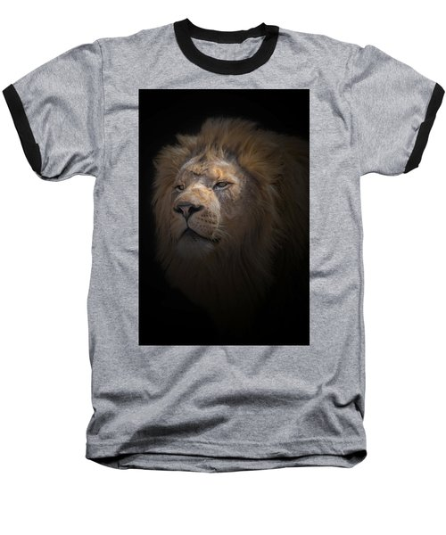 Baseball T-Shirt featuring the photograph African Lion by Peter Lakomy