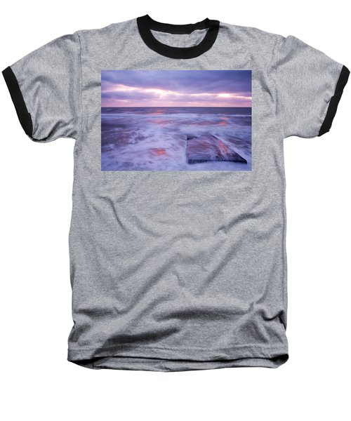 Ballyconnigar Strand At Dawn Baseball T-Shirt