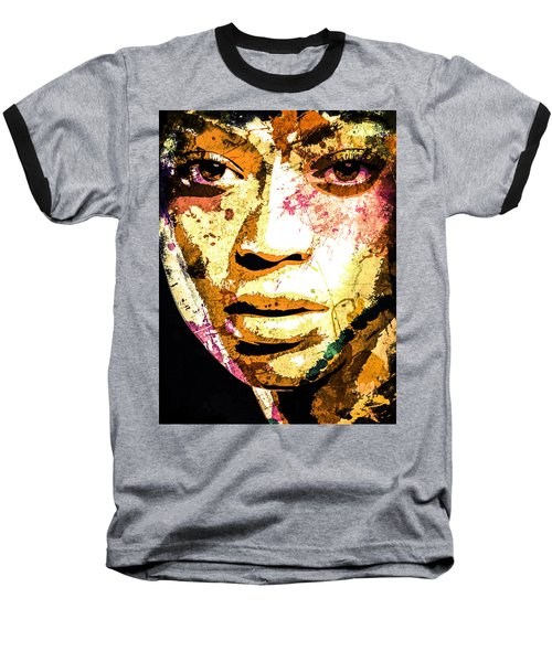 Beyonce Baseball T-Shirt by Svelby Art