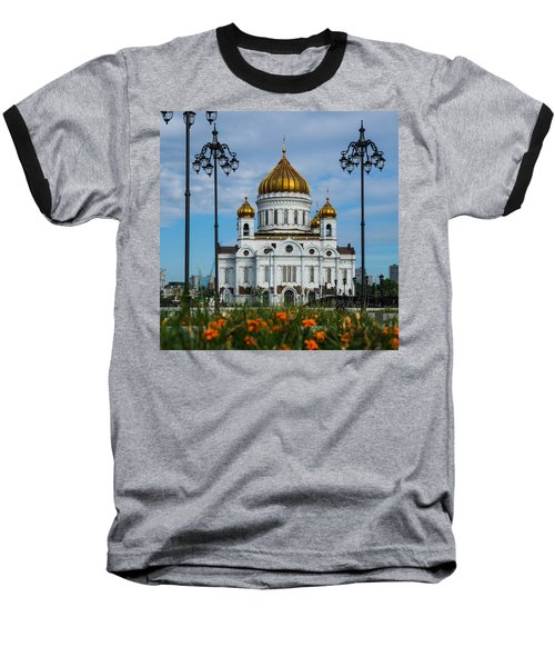 Cathedral Of Christ The Savior Of Moscow - Russia - Featured 3 Baseball T-Shirt