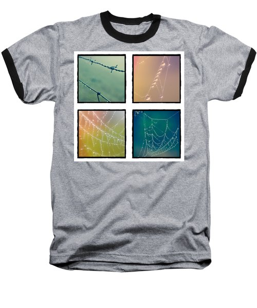 4 Color Web Droplets Baseball T-Shirt