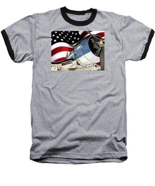 Corsair And Flag Baseball T-Shirt by Shari Nees