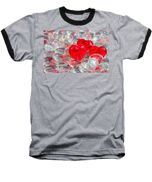 Crystal Heart Baseball T-Shirt