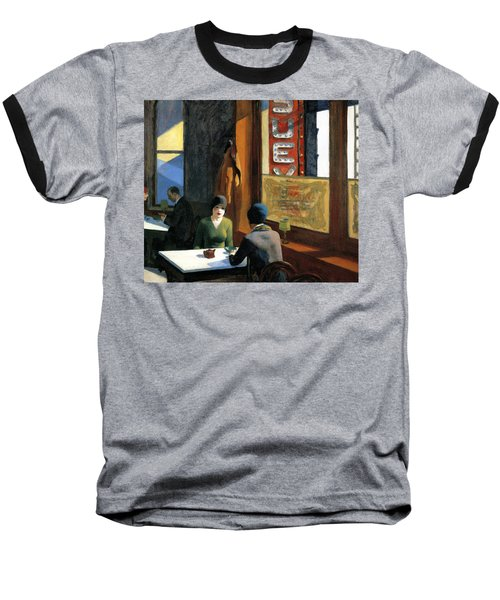 Chop Suey Baseball T-Shirt by Edward Hopper