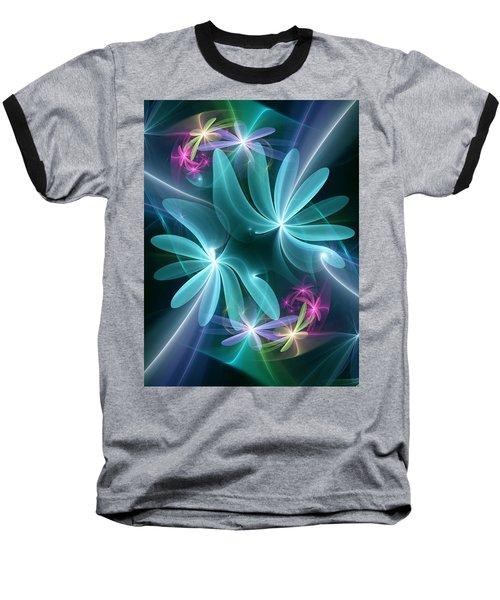 Ethereal Flowers Baseball T-Shirt