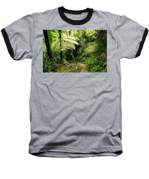Forest Baseball T-Shirt by Les Cunliffe