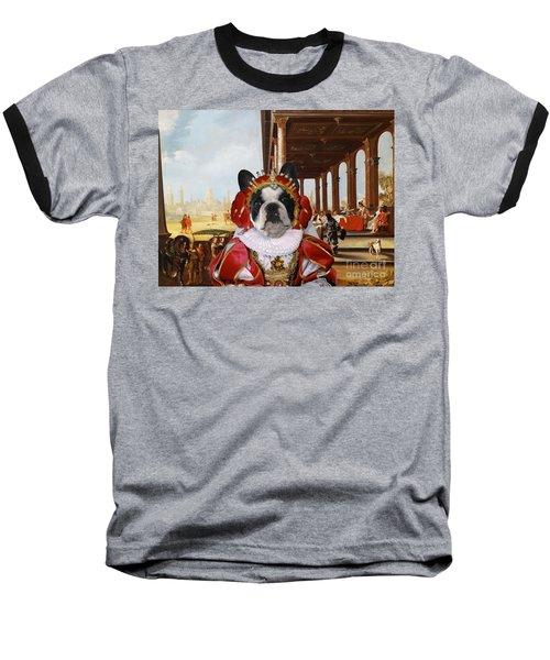 French Bulldog Art Canvas Print Baseball T-Shirt