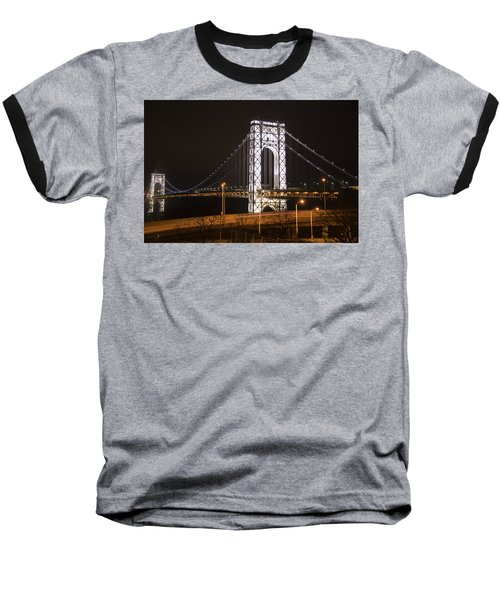 George Washington Bridge On President's Day Baseball T-Shirt