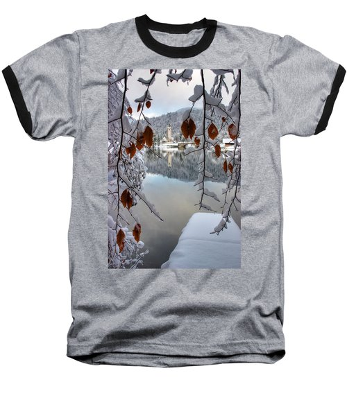 Lake Bohinj In Winter Baseball T-Shirt