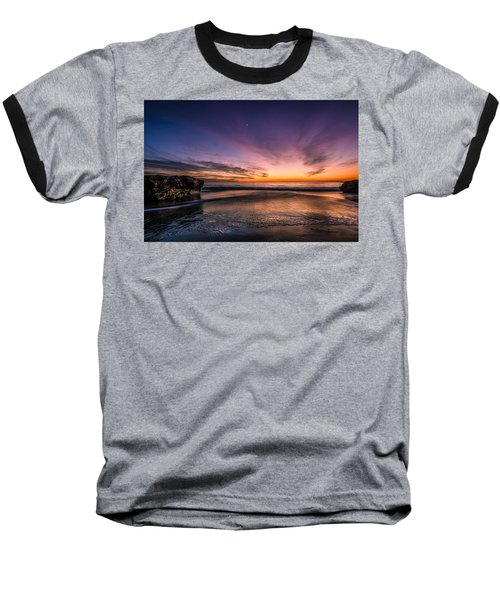 4 Mile Beach Sunset Baseball T-Shirt