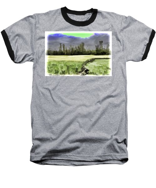 Mustard Fields In Kashmir Baseball T-Shirt
