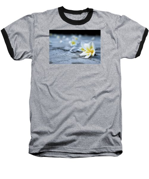 Plumaria Flowers Baseball T-Shirt