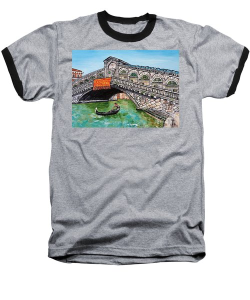 Ponte Di Rialto Baseball T-Shirt by Loredana Messina