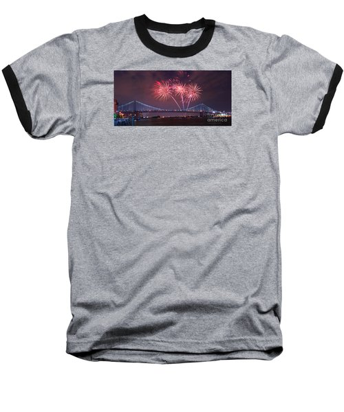 Baseball T-Shirt featuring the photograph 4 Th Of July Firework by Rima Biswas