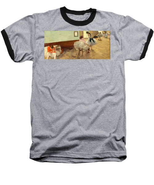 The Dance Lesson Baseball T-Shirt by Edgar Degas