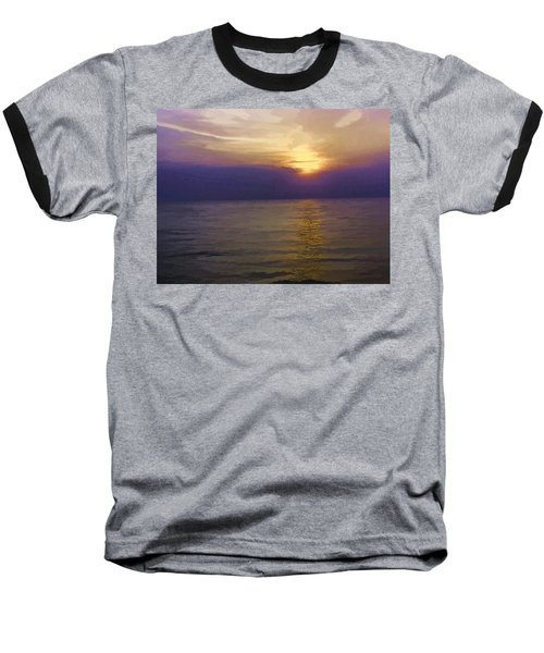 View Of Sunset Through Clouds Baseball T-Shirt
