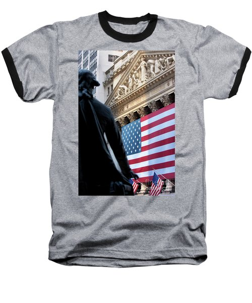 Wall Street Flag Baseball T-Shirt