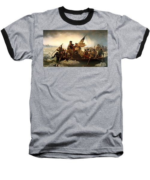 Baseball T-Shirt featuring the photograph Washington Crossing The Delaware by Emanuel Leutze