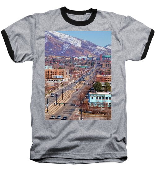 Baseball T-Shirt featuring the photograph 400 S Salt Lake City by Ely Arsha