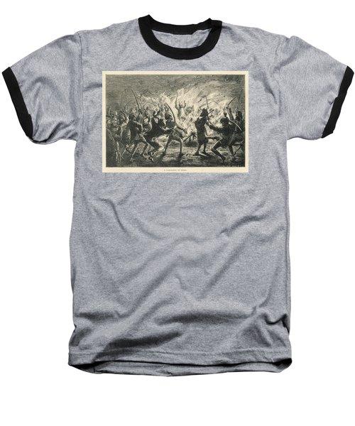 Semipalmated Sandpipers Baseball T-Shirt by Yva Momatiuk John Eastcott