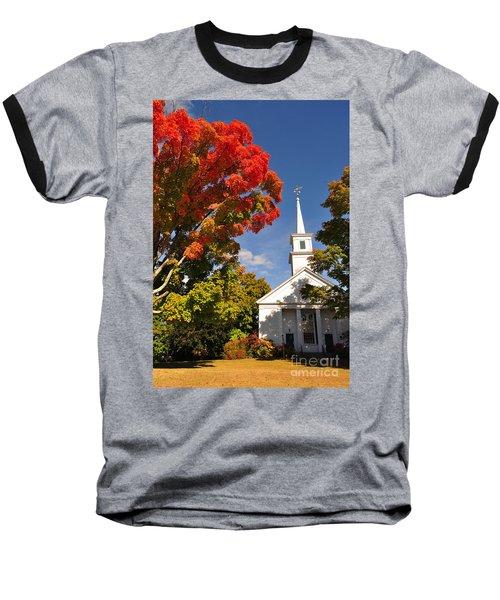Lunenburg, Ma - Fall Foliage Baseball T-Shirt