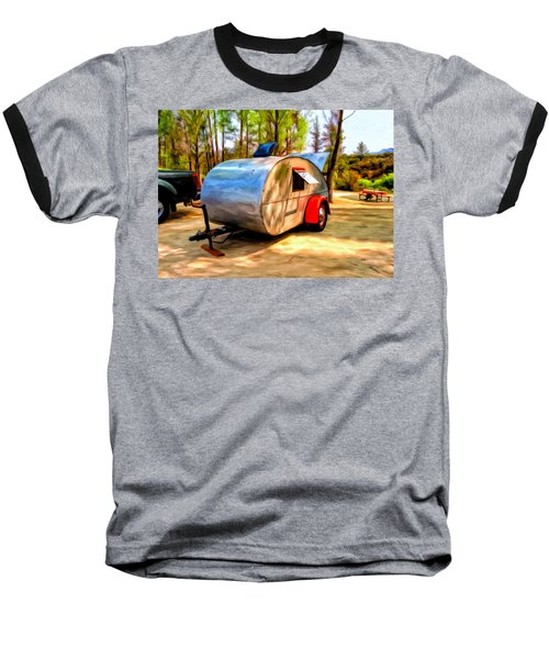 Baseball T-Shirt featuring the painting 47 Teardrop by Michael Pickett