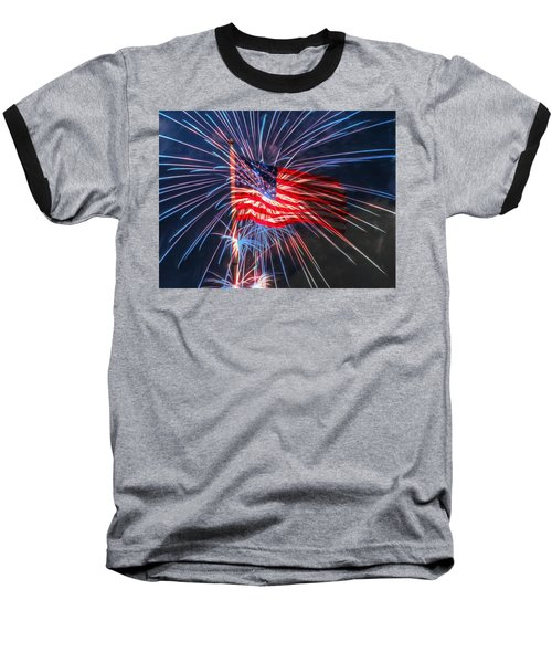 4th Of July Baseball T-Shirt by Heidi Smith