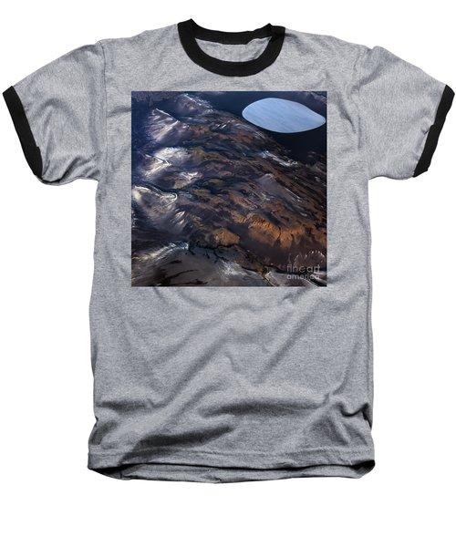 Aerial Photography Baseball T-Shirt by Gunnar Orn Arnason