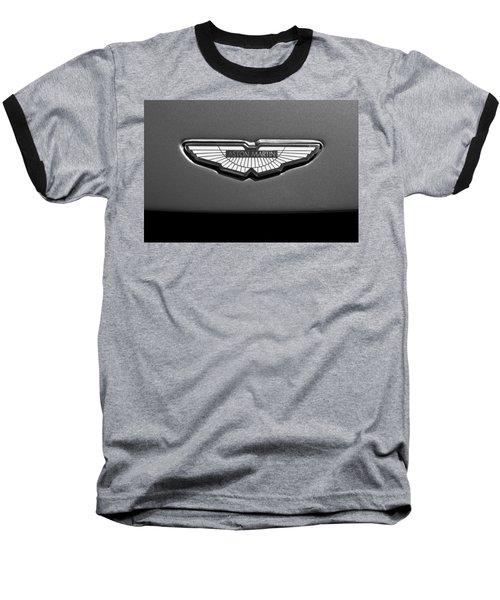 Aston Martin Emblem Baseball T-Shirt by Jill Reger