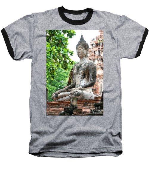Buddha Statue Baseball T-Shirt