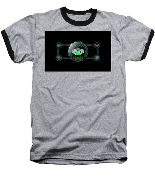 Celtic Claddagh Ring  Baseball T-Shirt by Ireland Calling