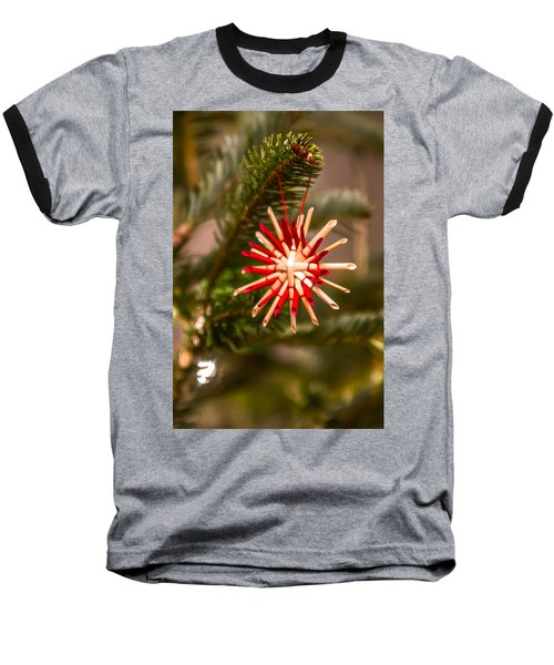 Baseball T-Shirt featuring the photograph Christmas Tree Ornaments by Alex Grichenko